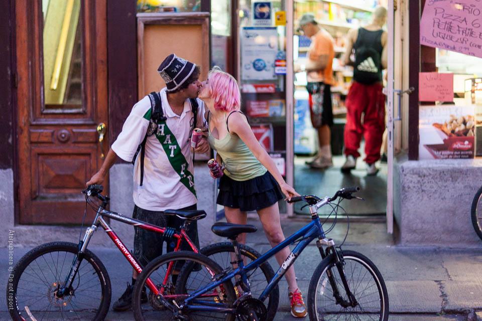 Par med cyklar
