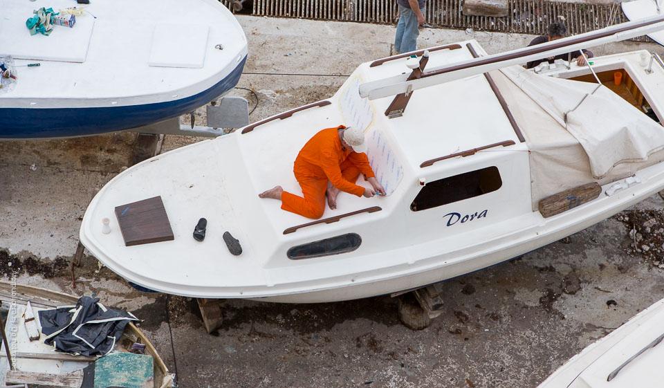 Man på båt
