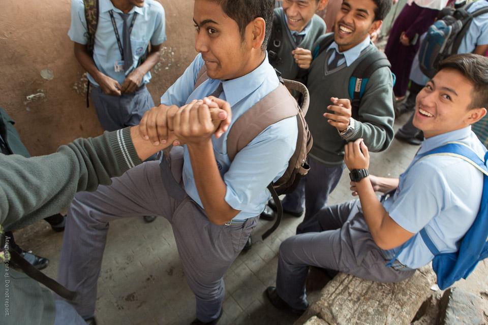 Uppsluppen skolungdom