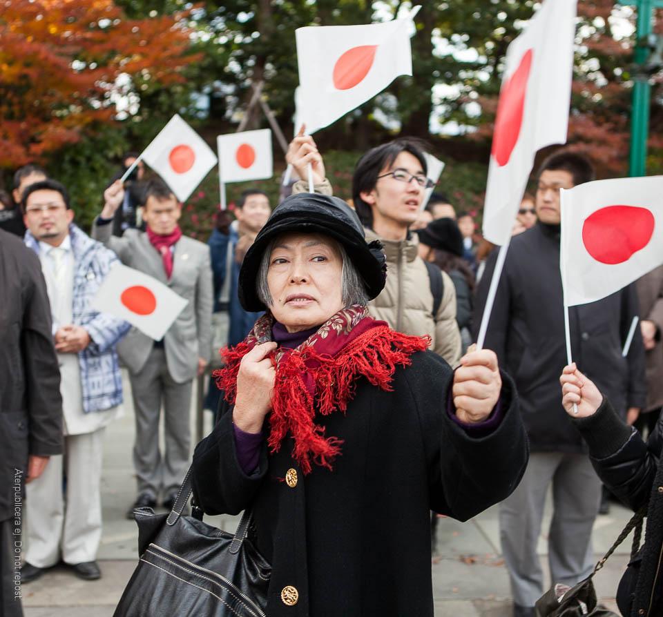 Kvinna med flagga