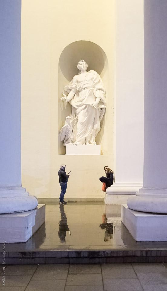 Personer vid staty