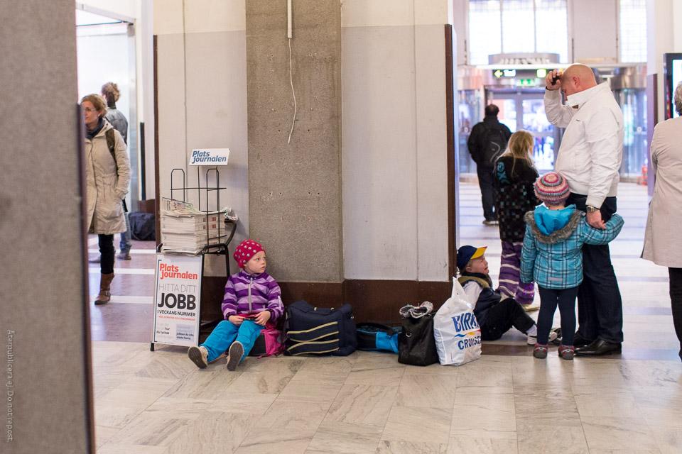 Barn på Centralen