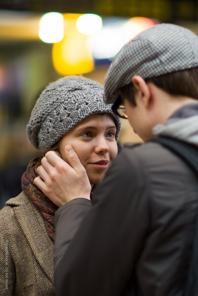 Ungt par på Centralen