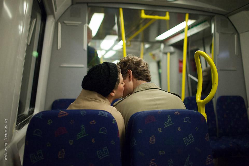 Par i tunnelbanan