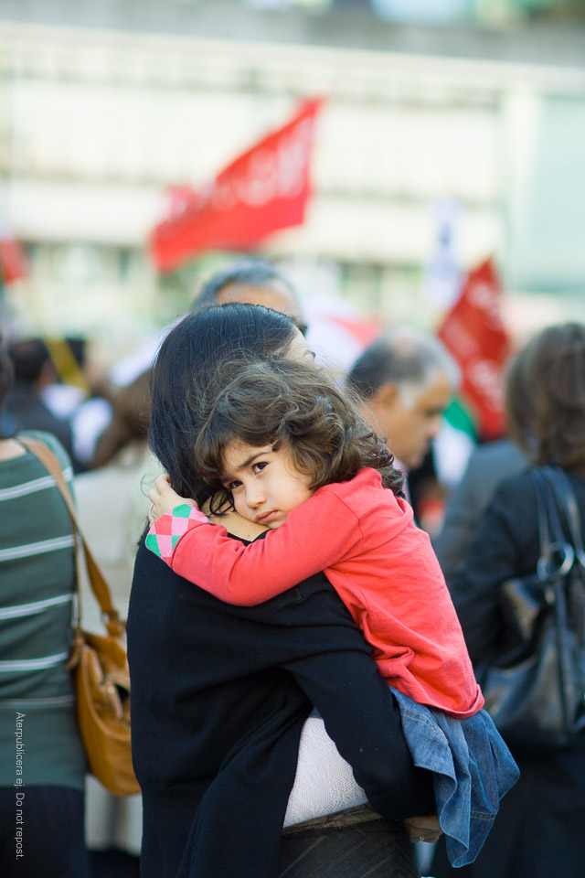 Barn på demonstration II