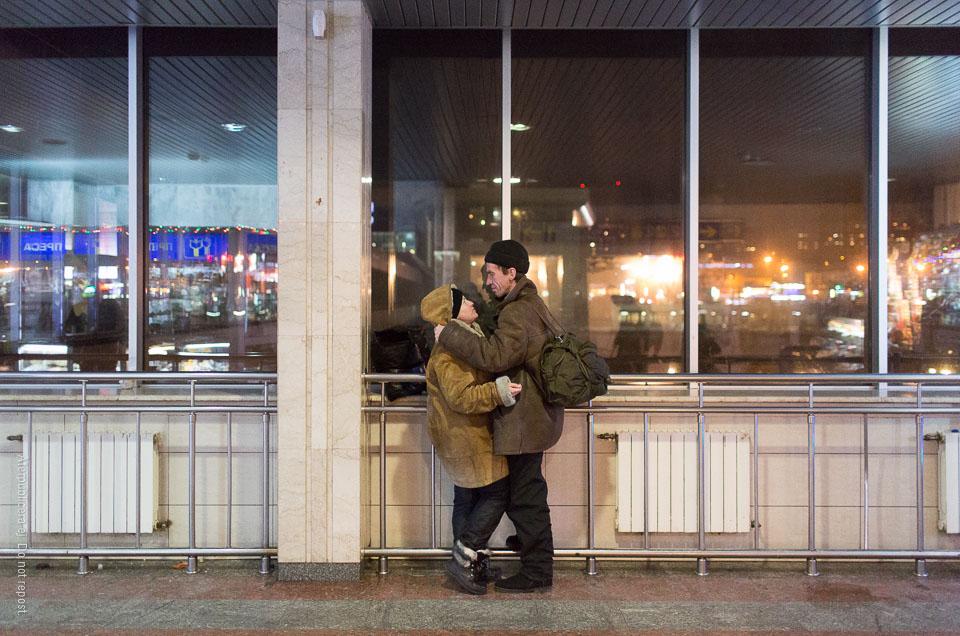 Par i skinnjackor
