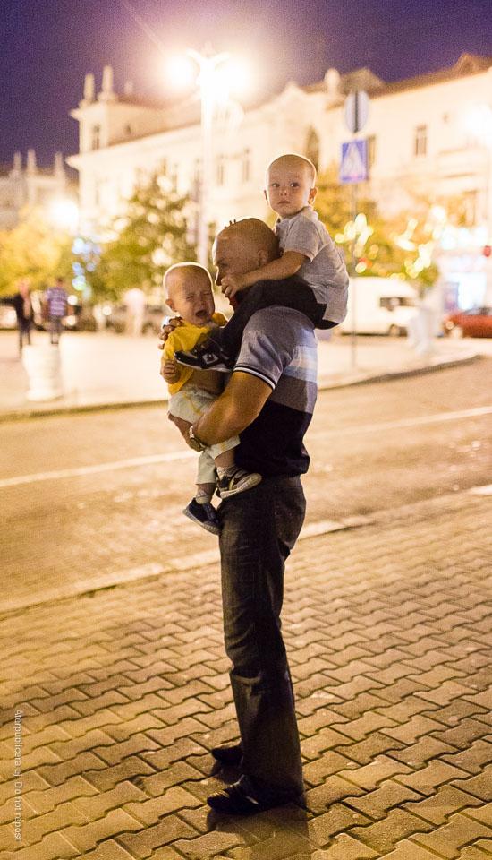 Man med barn