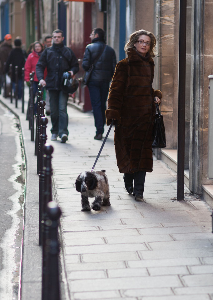 Kvinna med hund