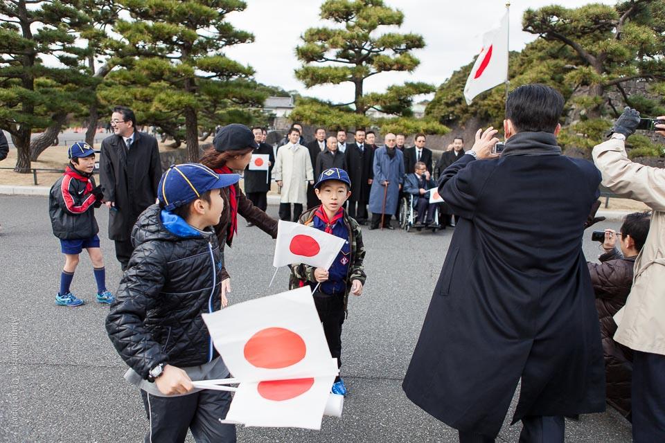 Pojke med flagga