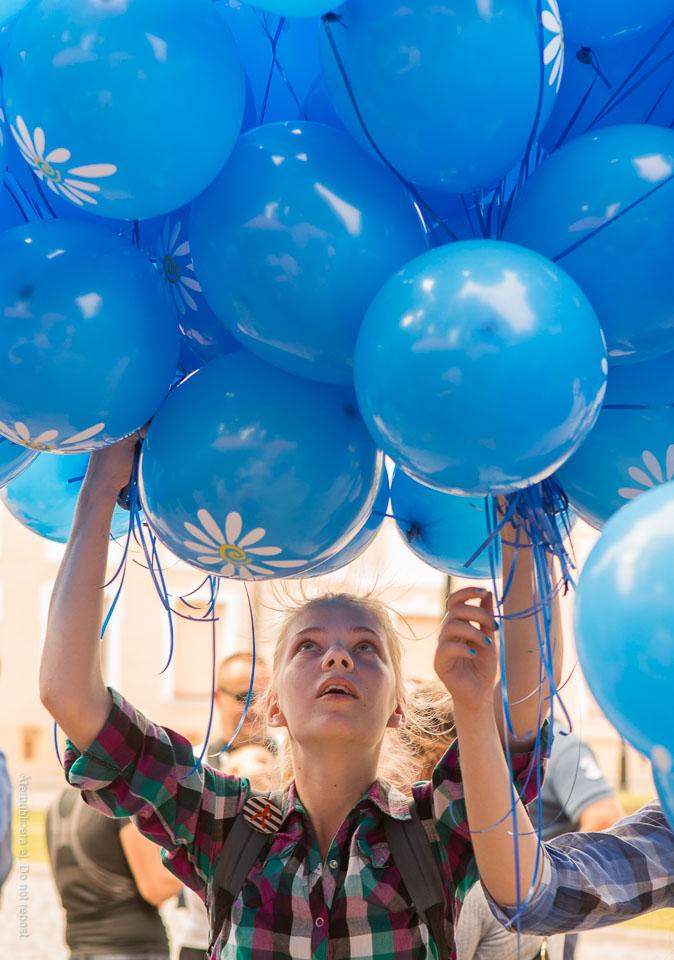 Blå ballonger