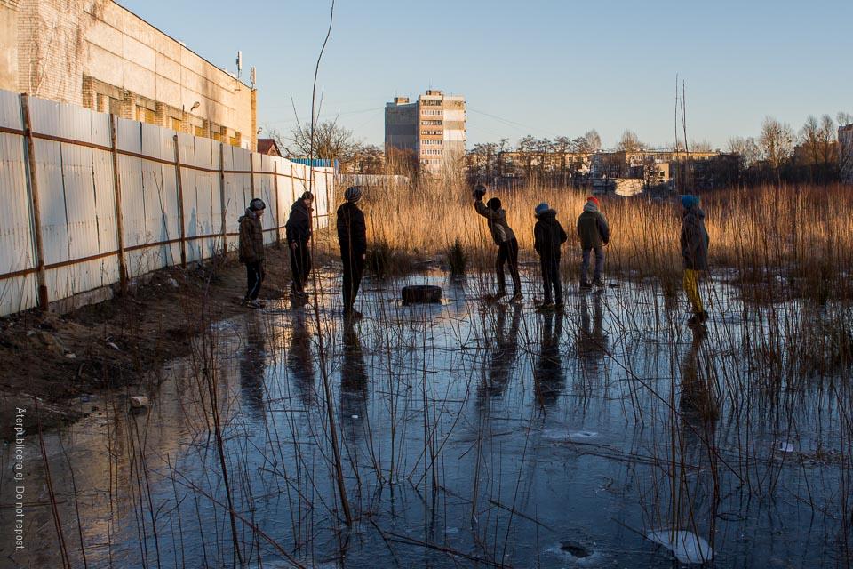 Barn på is