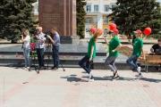 Fotografer och ballongbärare