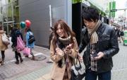 Par med mobiltelefoner