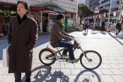 Kille på cykel
