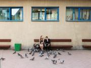 Ungt par bland duvor