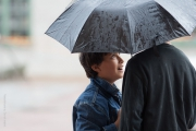 Pojkar med paraply